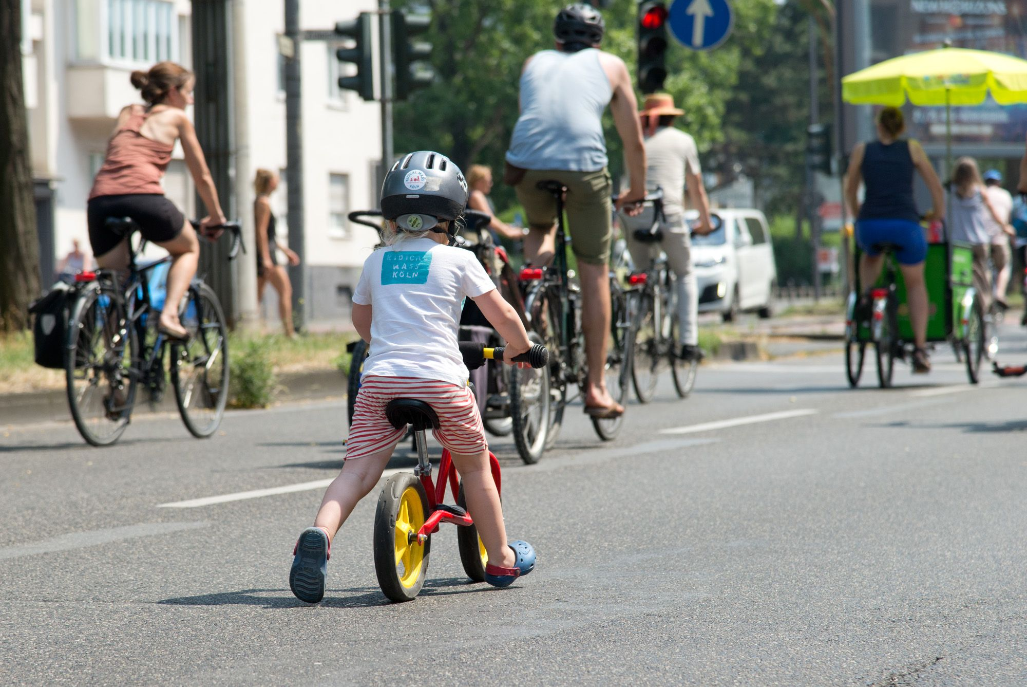 Kidical mass Fahrraddemo